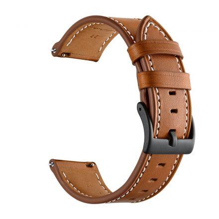 RMPACK Samsung Galaxy Watch4 40mm,42mm,44mm,46mm Bőrszíj Pótszíj Óraszíj CowStyle Barna