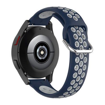 RMPACK Samsung Galaxy Watch4 40mm,42mm Óraszíj Szilikon Pótszíj Sport Hollow Style Sötétkék/Szürke