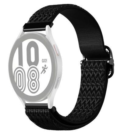 RMPACK Samsung Galaxy Watch4 42mm Pótszíj Óraszíj Szövet Szíj Nylon Rhombus Style Fekete