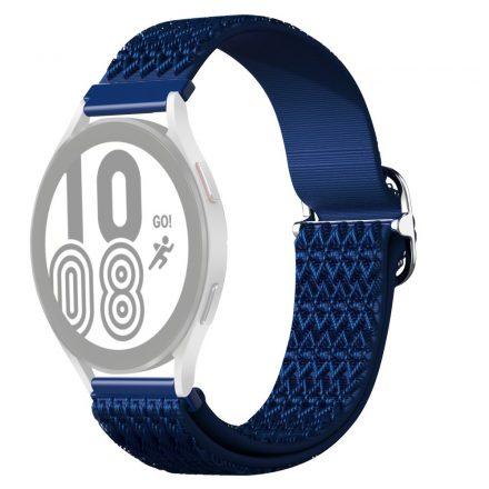 RMPACK Samsung Galaxy Watch4 42mm Pótszíj Óraszíj Szövet Szíj Nylon Rhombus Style Kék