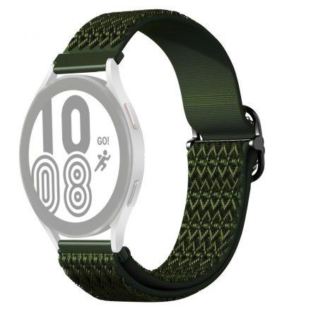 RMPACK Samsung Galaxy Watch4 42mm Pótszíj Óraszíj Szövet Szíj Nylon Rhombus Style Zöld