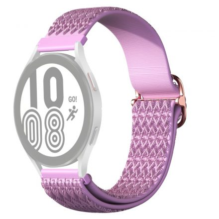 RMPACK Samsung Galaxy Watch4 42mm Pótszíj Óraszíj Szövet Szíj Nylon Rhombus Style Lila