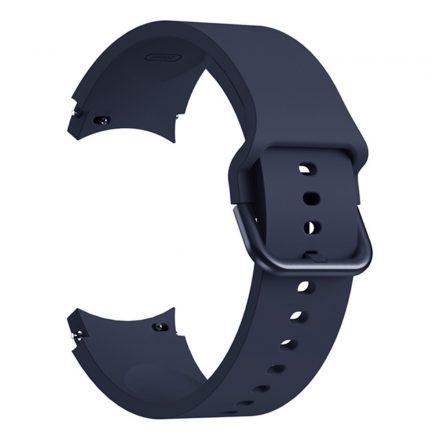 RMPACK Samsung Galaxy Watch4 Classic 46mm 42mm / 44mm 40mm Óraszíj Szilikon Pótszíj Elegance Series Sötétkék