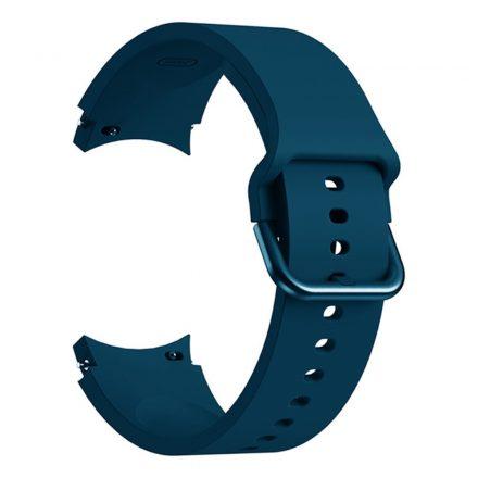 RMPACK Samsung Galaxy Watch4 Classic 46mm 42mm / 44mm 40mm Óraszíj Szilikon Pótszíj Elegance Series Cián