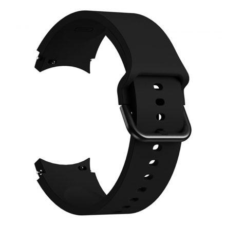RMPACK Samsung Galaxy Watch4 Classic 46mm 42mm / 44mm 40mm Óraszíj Szilikon Pótszíj Elegance Series Fekete