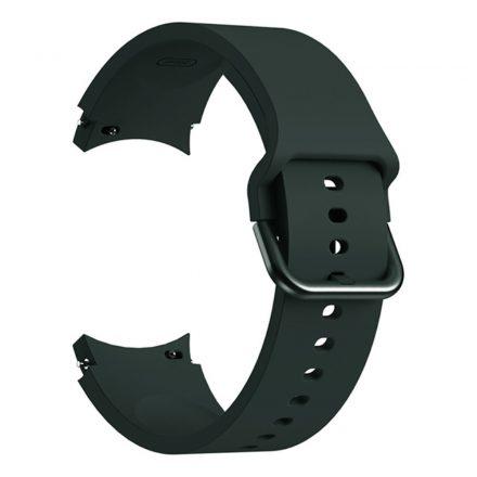 RMPACK Samsung Galaxy Watch4 Classic 46mm 42mm / 44mm 40mm Óraszíj Szilikon Pótszíj Elegance Series Zöld