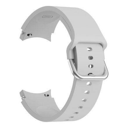 RMPACK Samsung Galaxy Watch4 Classic 46mm 42mm / 44mm 40mm Óraszíj Szilikon Pótszíj Elegance Series Szürke