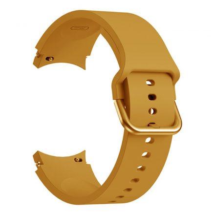 RMPACK Samsung Galaxy Watch4 Classic 46mm 42mm / 44mm 40mm Óraszíj Szilikon Pótszíj Elegance Series Sárga