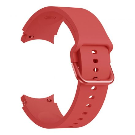 RMPACK Samsung Galaxy Watch4 Classic 46mm 42mm / 44mm 40mm Óraszíj Szilikon Pótszíj Elegance Series Piros