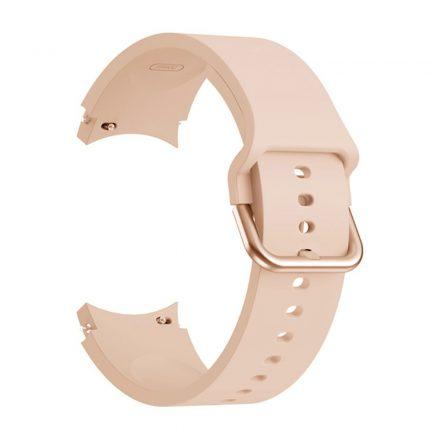 RMPACK Samsung Galaxy Watch4 Classic 46mm 42mm / 44mm 40mm Óraszíj Szilikon Pótszíj Elegance Series Rózsaszín