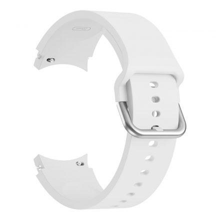 RMPACK Samsung Galaxy Watch4 Classic 46mm 42mm / 44mm 40mm Óraszíj Szilikon Pótszíj Elegance Series Fehér