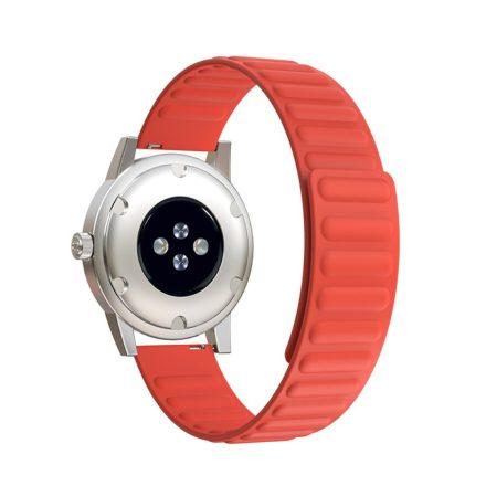 RMPACK Samsung Galaxy Watch4 Classic 46mm 42mm / 44mm 40mm Mágneses Szíj Pótszíj Szilikon Óraszíj Narancssárga
