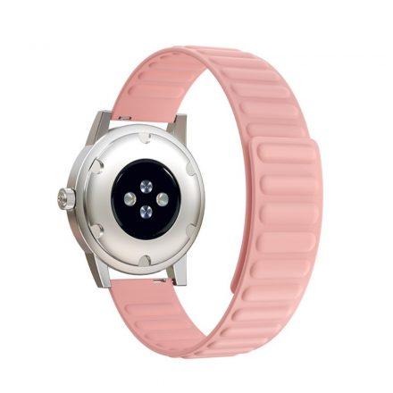 RMPACK Samsung Galaxy Watch4 Classic 46mm 42mm / 44mm 40mm Mágneses Szíj Pótszíj Szilikon Óraszíj Zöld