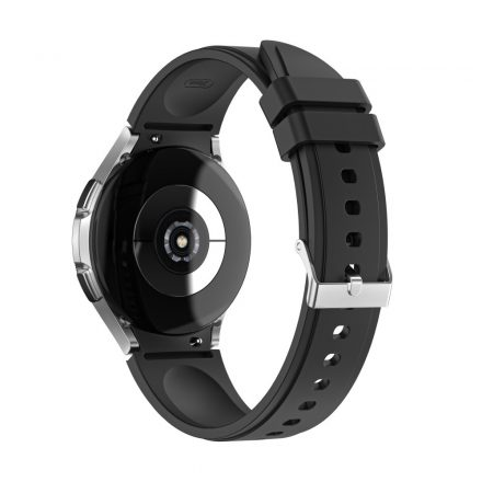 RMPACK Samsung Galaxy Watch4 40mm 42mm / Watch4 Classic 44mm Classic 46mm Óraszíj Szilikon Pótszíj TrendyStyle Fekete