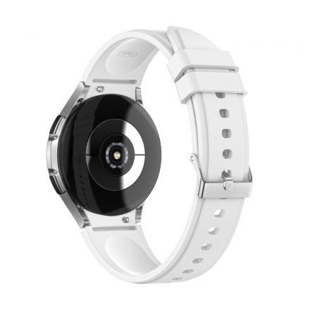RMPACK Samsung Galaxy Watch4 40mm 42mm / Watch4 Classic 44mm Classic 46mm Óraszíj Szilikon Pótszíj TrendyStyle Fehér