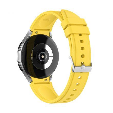 RMPACK Samsung Galaxy Watch4 40mm 42mm / Watch4 Classic 44mm Classic 46mm Óraszíj Szilikon Pótszíj TrendyStyle Sárga