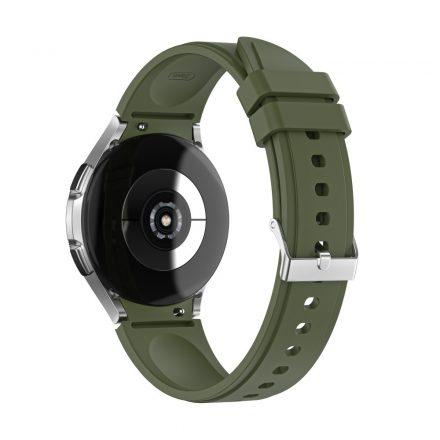 RMPACK Samsung Galaxy Watch4 40mm 42mm / Watch4 Classic 44mm Classic 46mm Óraszíj Szilikon Pótszíj TrendyStyle OlajZöld