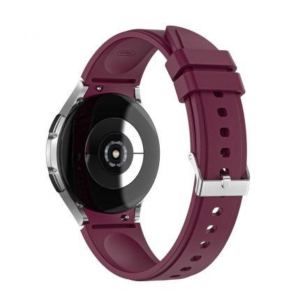 RMPACK Samsung Galaxy Watch4 40mm 42mm / Watch4 Classic 44mm Classic 46mm Óraszíj Szilikon Pótszíj TrendyStyle Bordó