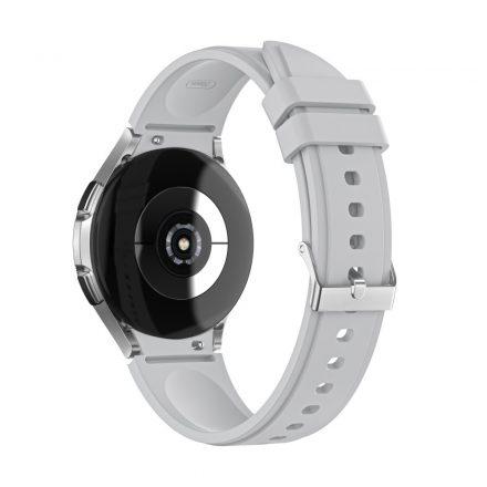 RMPACK Samsung Galaxy Watch4 40mm 42mm / Watch4 Classic 44mm Classic 46mm Óraszíj Szilikon Pótszíj TrendyStyle Szürke