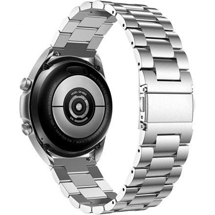 RMPACK Samsung Galaxy Watch4 40mm 42mm / Watch4 Classic 44mm Classic 46mm Fémszíj Pótszíj Óraszíj Ezüst
