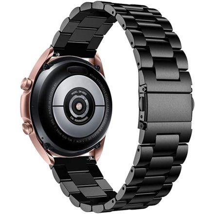 RMPACK Samsung Galaxy Watch4 40mm 42mm / Watch4 Classic 44mm Classic 46mm Fémszíj Pótszíj Óraszíj Fekete