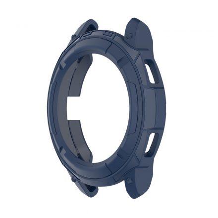 RMPACK Samsung Galaxy Watch4 Classic 46mm Védőkeret Szilikon Védelem Sötétkék