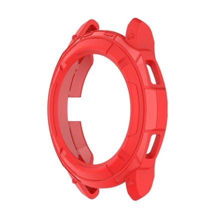 RMPACK Samsung Galaxy Watch4 Classic 42mm Védőkeret Szilikon Védelem Piros