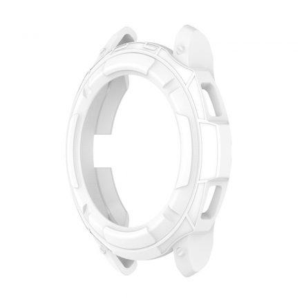RMPACK Samsung Galaxy Watch4 Classic 42mm Védőkeret Szilikon Védelem Fehér