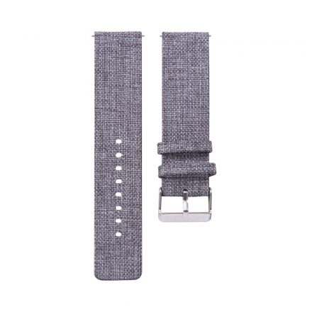 RMPACK Samsung Galaxy Watch4 40mm|Classic 42mm|44mm|Classic 46mm Szövet Pótszíj Óraszíj Canvas Elegance Series Szürke