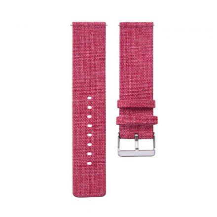 RMPACK Samsung Galaxy Watch4 40mm Classic 42mm 44mm Classic 46mm Szövet Pótszíj Óraszíj Canvas Elegance Series Piros