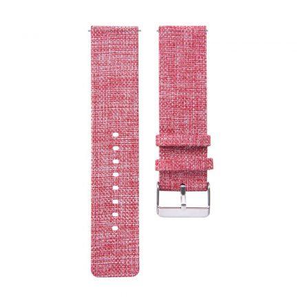RMPACK Samsung Galaxy Watch4 40mm Classic 42mm 44mm Classic 46mm Szövet Pótszíj Óraszíj Canvas Elegance Series Pink